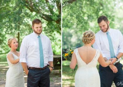 nelya sunflower wedding first look 2