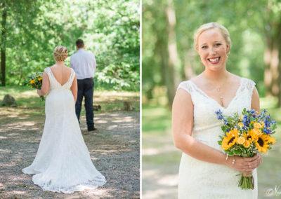 nelya sunflower wedding first look 1