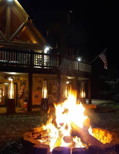 bon fire cabin